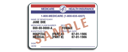 Example of medicare card